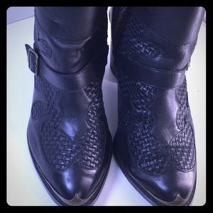 Kenzie Leather Ankle Boots  S/11 3 buckle design